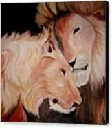 Lion's Love Canvas Print