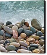Ocean Stones Canvas Print by Stelios Kleanthous
