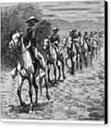 Remington: 10th Cavalry Canvas Print by Granger