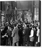 Silent Film Still: Crowds Canvas Print