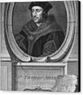 Sir Thomas More, English Statesman Canvas Print by Middle Temple Library