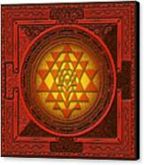 Sri Yantra Canvas Print by Lila Shravani