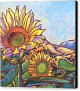 3 Sunflowers Canvas Print by Nadi Spencer