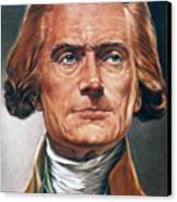 Thomas Jefferson (1743-1826) Canvas Print by Granger