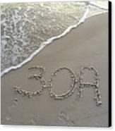 30a Beach Canvas Print by Megan Cohen