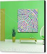 An Example Of Modern Art By Rolf Bertram In An Interior Design Setting Canvas Print by Rolf Bertram
