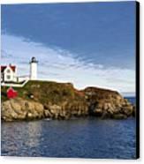 Nubble Lighthouse Canvas Print by John Greim