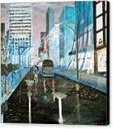 42nd Street Blue Canvas Print by Steve Karol