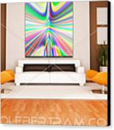 An Example Of Modern Art By Rolf Bertram In An Interior Design Setting Canvas Print by Rolf Bertram