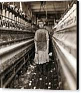 Child Laborer Portrayed By Lewis Hine Canvas Print