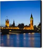 London  Skyline Big Ben Canvas Print by David French
