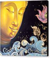 The Light Of Buddhism Canvas Print