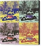 Old Beetle-pop Art Canvas Print