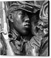 54th Massachusetts Memorial Canvas Print by Brian M Lumley
