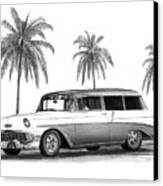 56 Chevy Wagon Canvas Print
