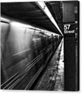 57th Street Platform Canvas Print by Barry C Donovan