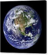 Full Earth Showing North America Canvas Print by Stocktrek Images