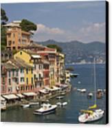 Portofino In The Italian Riviera In Liguria Italy Canvas Print