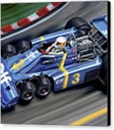 6 Wheel Tyrrell P34 F-1 Car Canvas Print