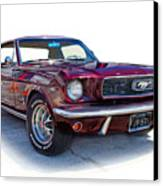 69 Ford Mustang Canvas Print by Mamie Thornbrue