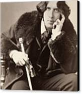 Oscar Wilde (1854-1900) Canvas Print by Granger