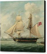 A Brig Entering Liverpool Canvas Print by John Jenkinson