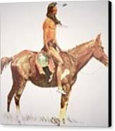 A Cheyenne Brave Canvas Print by Frederic Remington