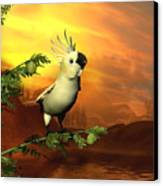 A Cockatoo In A Tree  Canvas Print