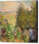 A Corner Of The Garden At Montgeron Canvas Print by Claude Monet