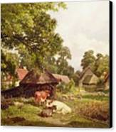 A Cottage Home In Surrey Canvas Print by Edward Henry Holder