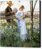 A Country Romance Canvas Print