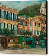 A Day In Portofino Canvas Print by Charlotte Blanchard