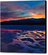 A Death Valley Sunset In The Badwater Basin Canvas Print