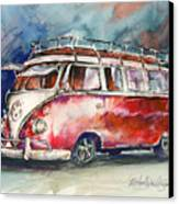 A Deluxe 15 Window Vw Bus Canvas Print