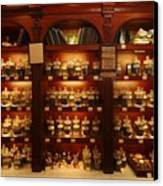 A Display Of Tea In A Tea Shop Canvas Print by Richard Nowitz
