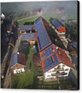 A Farm In Bavaria With Solar Canvas Print by Michael Melford