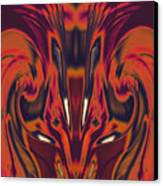 A Firebird Emerged From Your Equanimity 2015 Canvas Print by James Warren