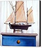 A Fishin Boat Right Outside Of Delacroix Canvas Print