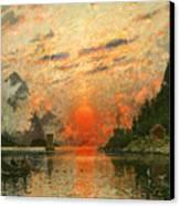 A Fjord Canvas Print