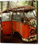 A Forgotten 23 Window Vw Bus  Canvas Print by Michael David Sorensen