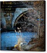 A Frozen Corner In Central Park Canvas Print by Chris Lord