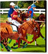 A Game Of Polo Canvas Print