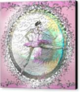 A La Second Pink Variation Canvas Print