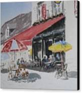 A L'ombre D'une  Terrasse D'un  Cafe  Shadow Of An Outdoor Pub Canvas Print by Dominique Serusier