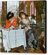 A Luncheon Canvas Print by Tissot