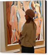 A Maid And Les Demoiselles D'avignon Canvas Print by Frank Winters