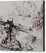 A Man Of Sorrows Canvas Print by Rachel Christine Nowicki