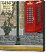 A Merry Old Corner In London Canvas Print