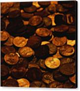A Mound Of Pennies Canvas Print