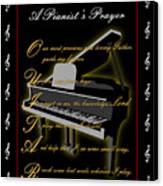 A Pianists Prayer_1 Canvas Print by Joe Greenidge